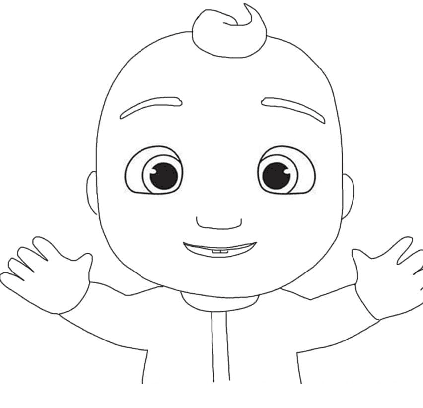 Little Johnny Cocomelon Coloring Page