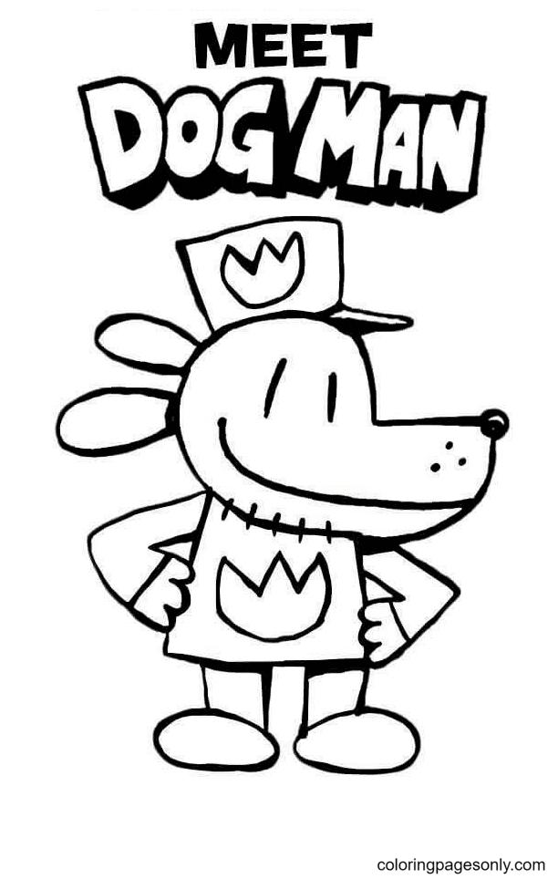 Meet Dog Man Coloring Page