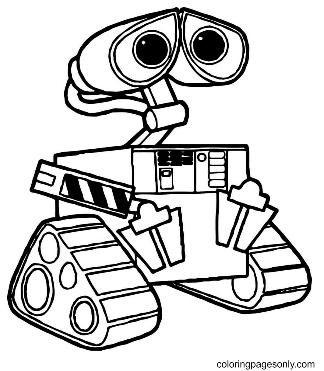 Monitoring Robot Coloring Page