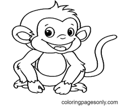 Monkey Coloring Pages