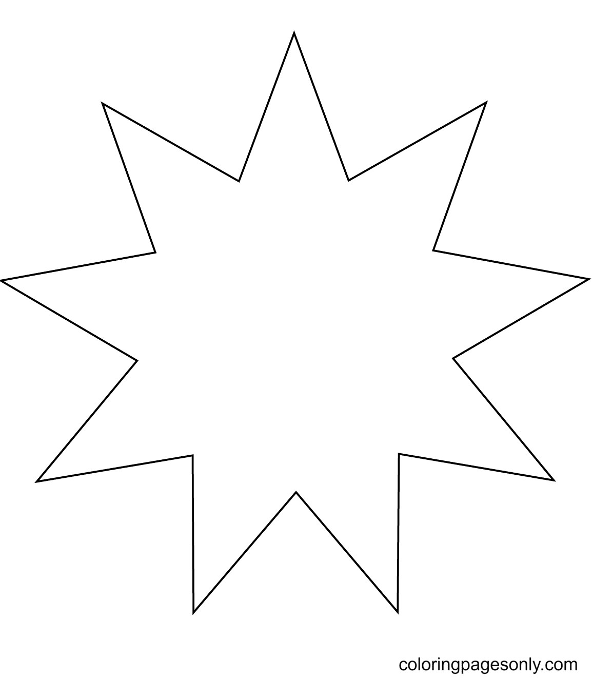 Nine Pointed Star Coloring Page