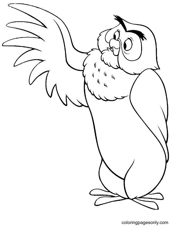 Owl From Winnie the Pooh Coloring Page