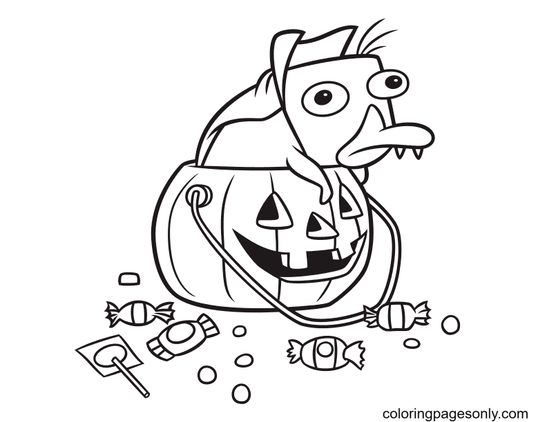 Perry Halloween Coloring Page