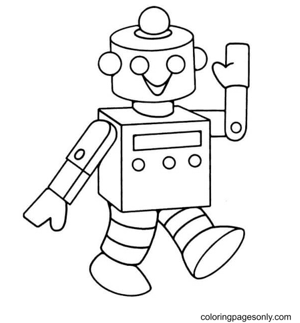 Popular Robot Coloring Page