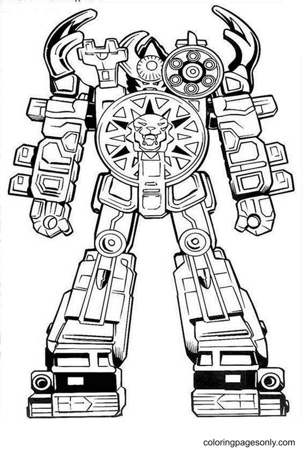 Power Rangers Big Robot Coloring Page