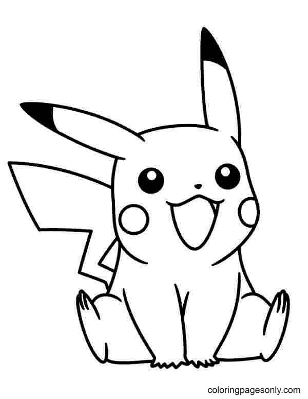 Pretty Pikachu Pokemon Coloring Page