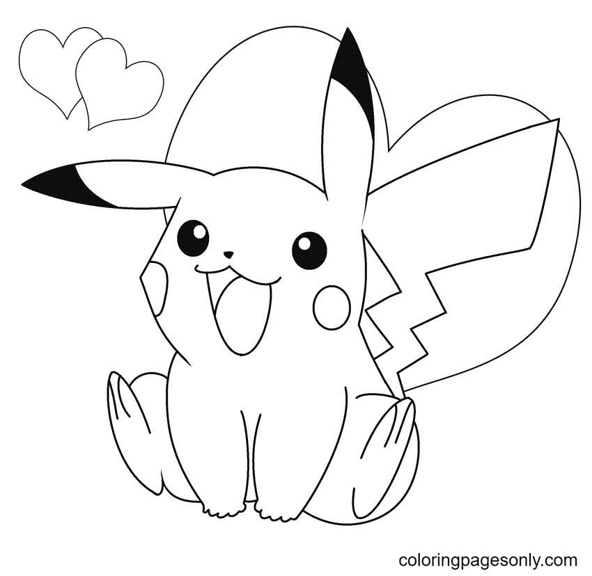 Pretty Pikachu Coloring Page
