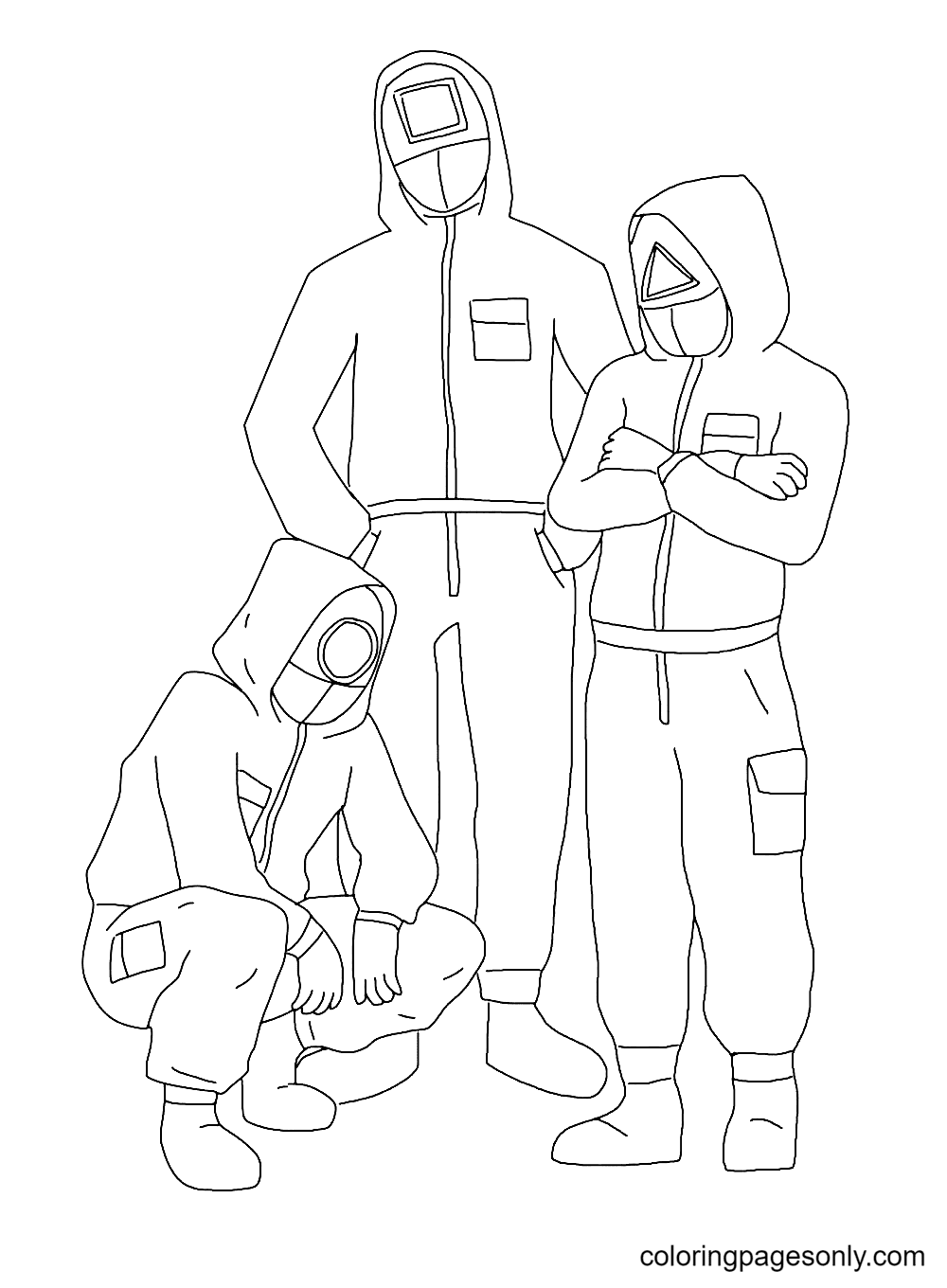 Print Squid Game Coloring Page