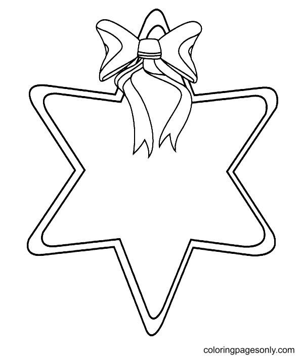 Printable Christmas Star Coloring Page