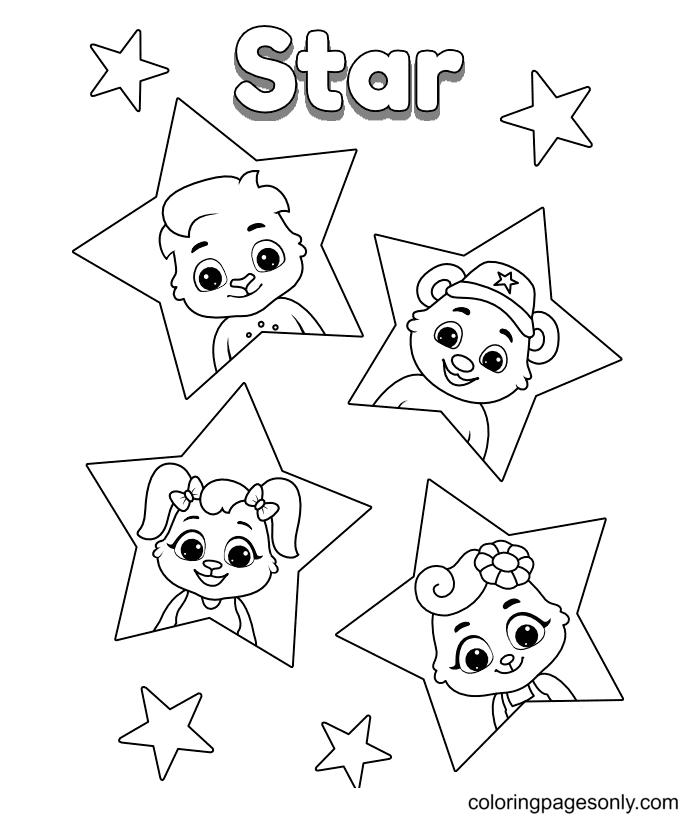 Printable Stars Coloring Page