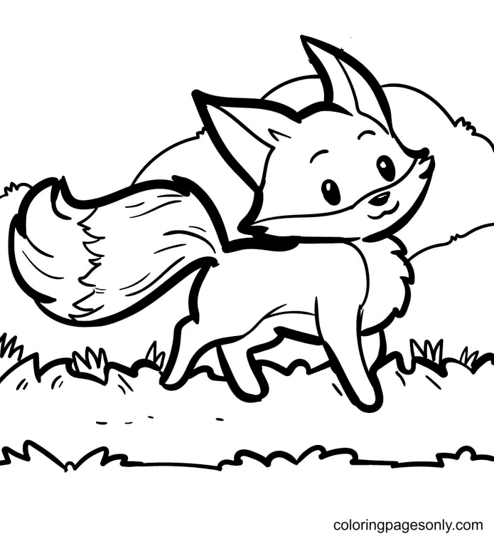 Proud Fox Coloring Page