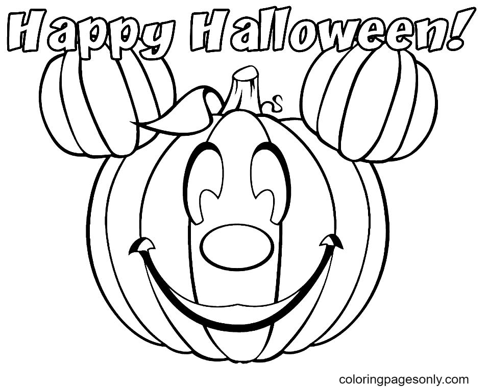 Pumpkin Mickey Coloring Page