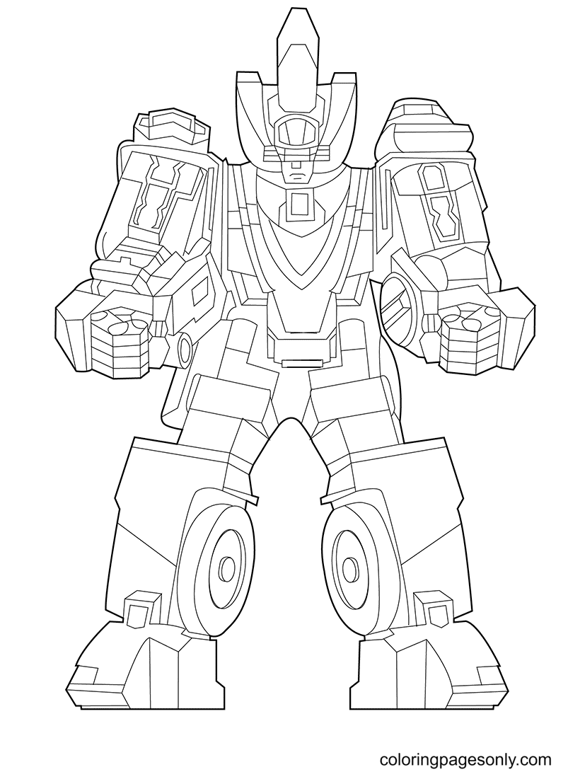 Rico The Robot Coloring Page
