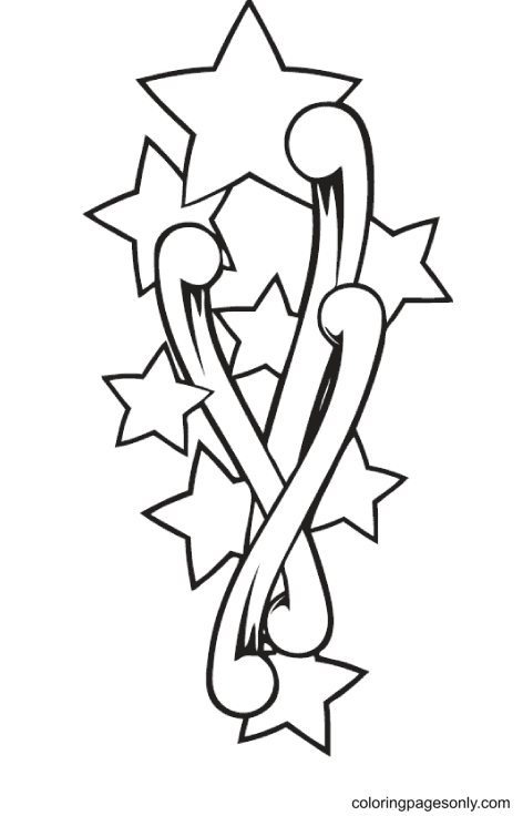 Rising Stars Coloring Page