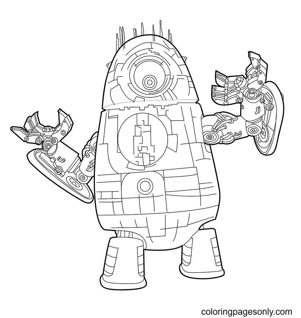 Robot Alien Coloring Page
