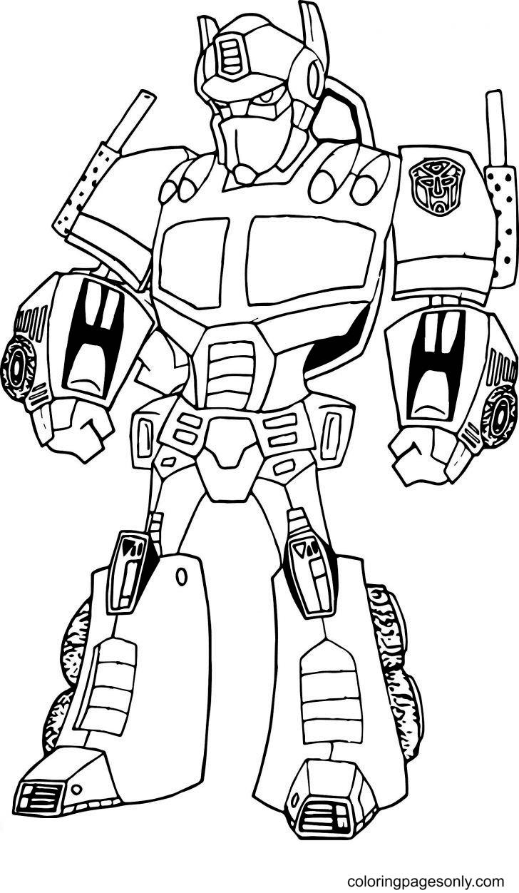 Robot Dowload Free Coloring Page