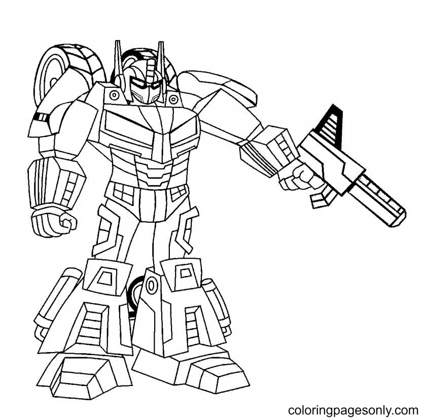 Robot Free Coloring Page