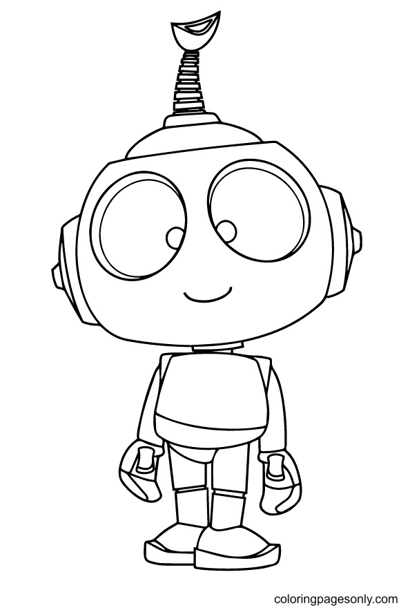 Robot Rob Coloring Page
