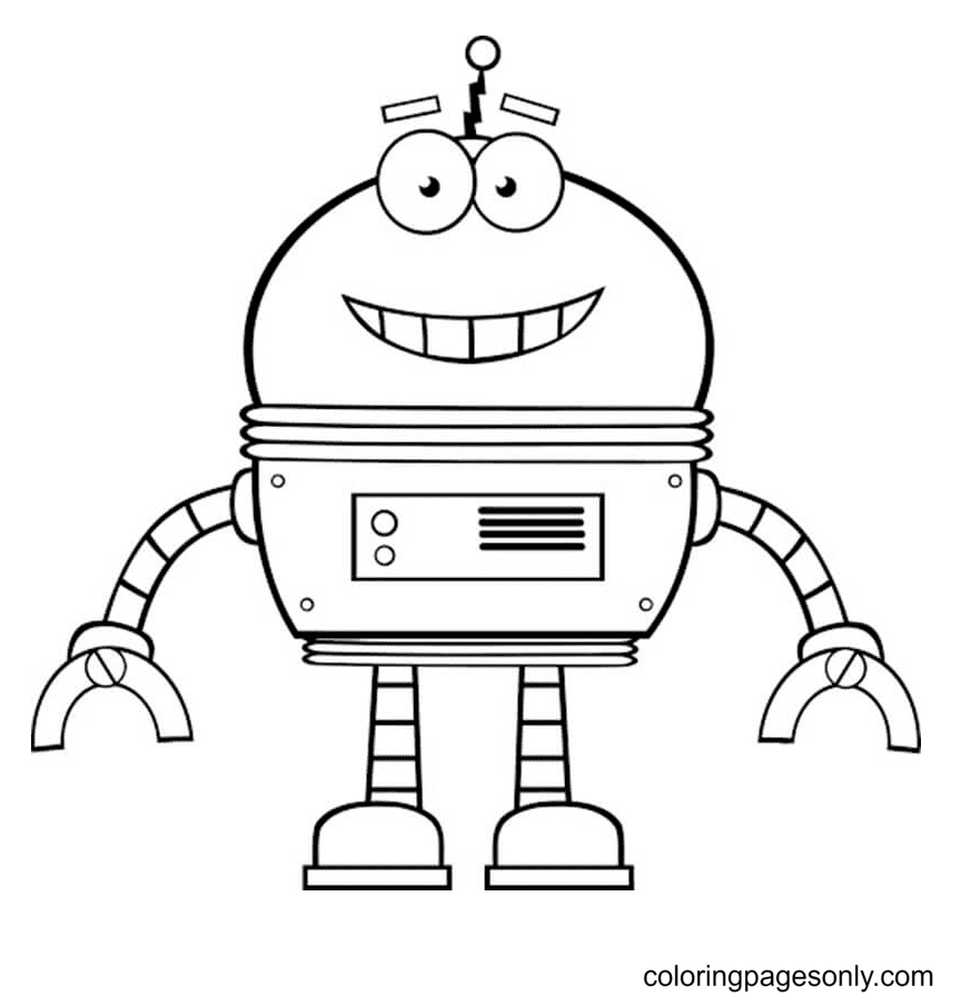 Robot for Kid Coloring Page