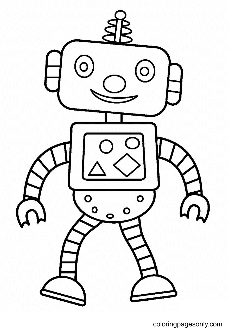 Robot to Print Coloring Page