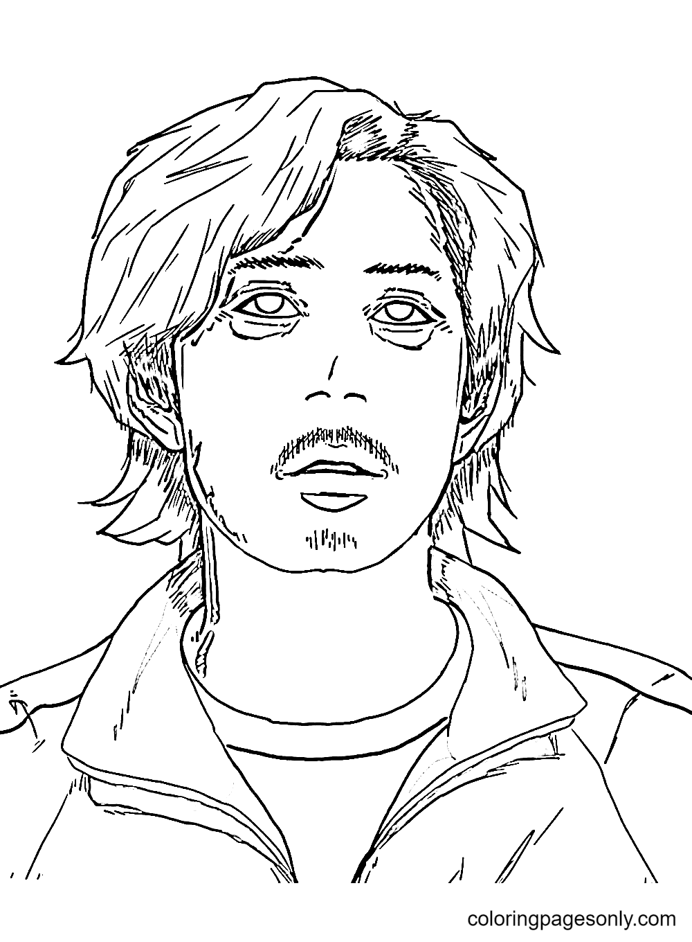 Seong Gi-Hun From Squid Game Coloring Page