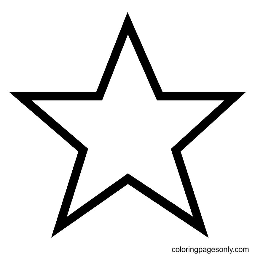 Simple Pentagram Star Coloring Page