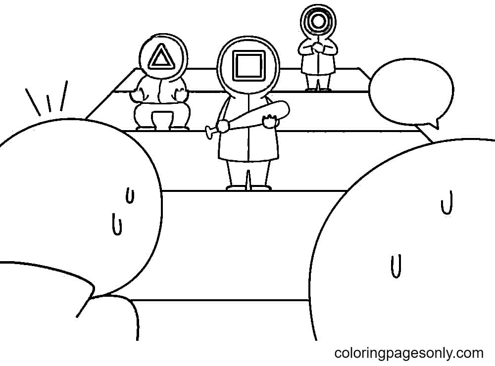Squid Game Free Printable Coloring Page