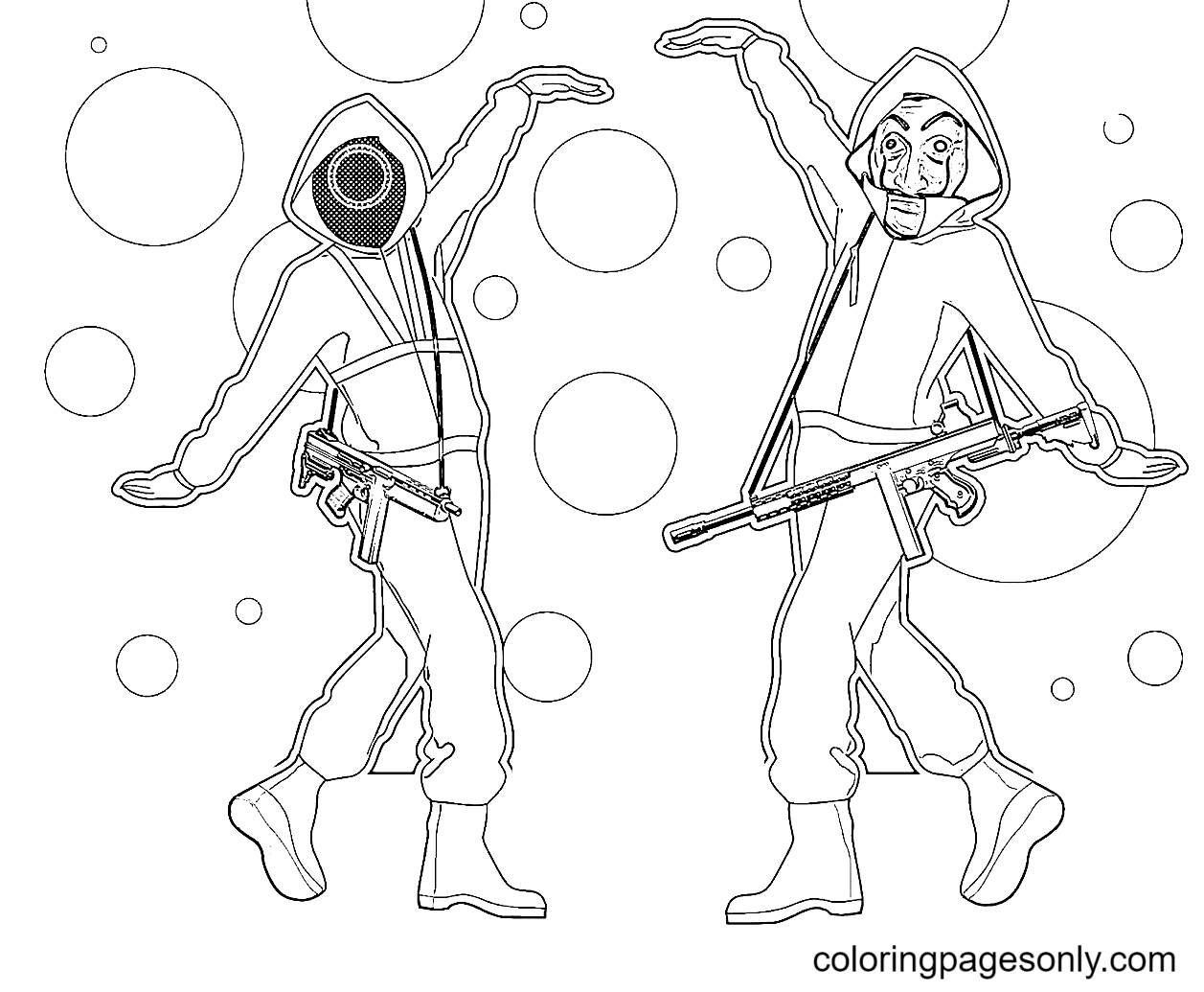 Squid Game Free Coloring Page