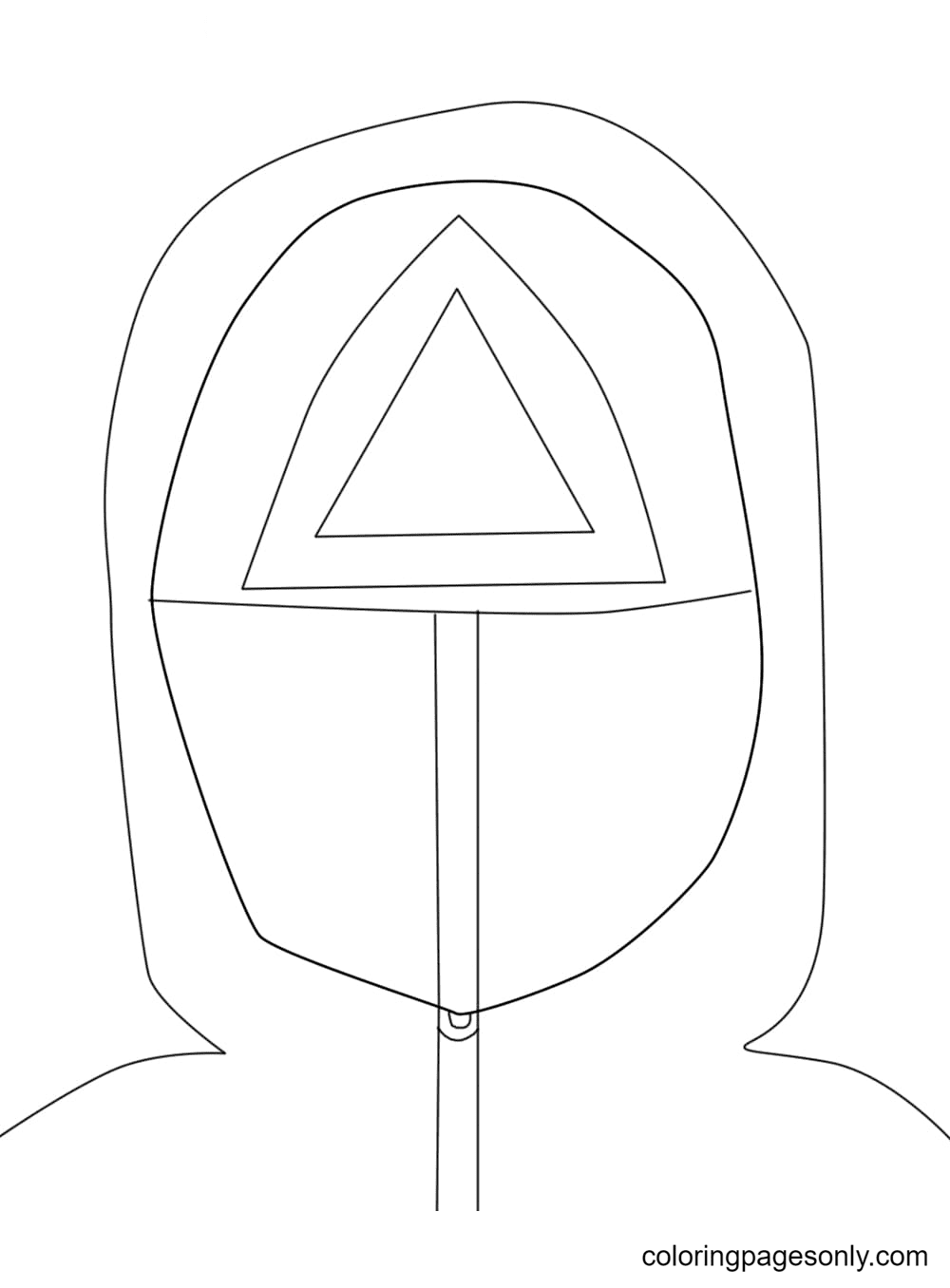 Character Squid Game Printable Coloring Page