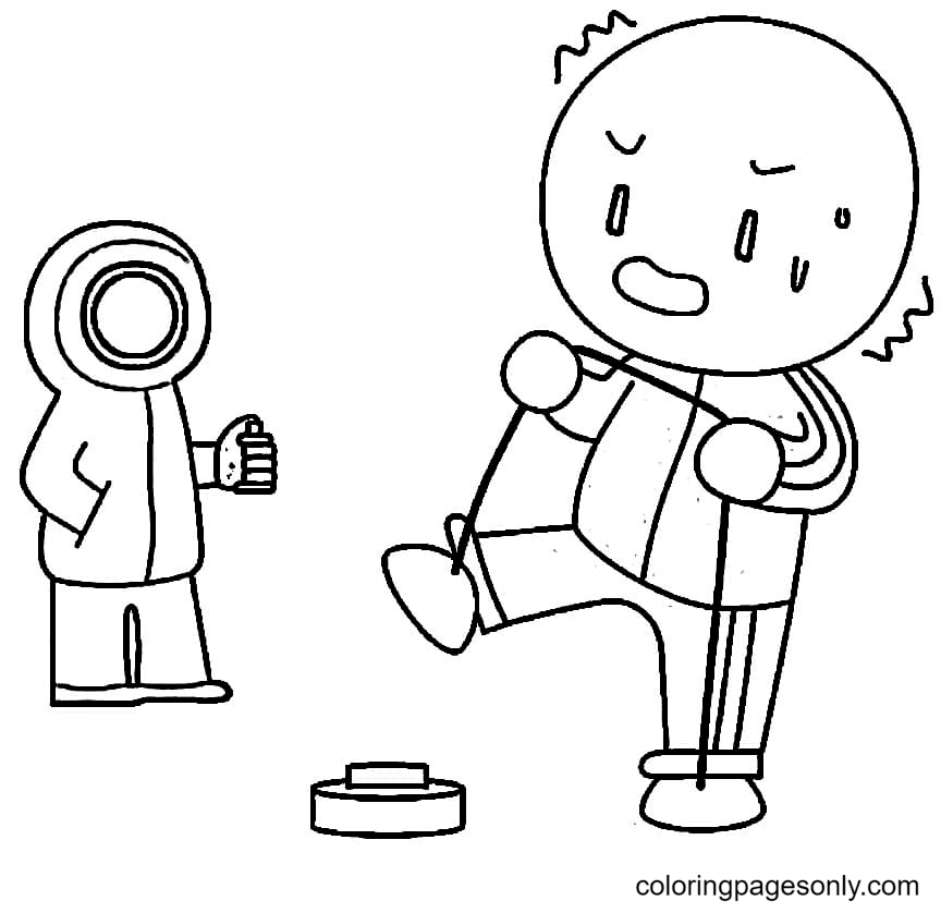 Squid Game Player Coloring Page