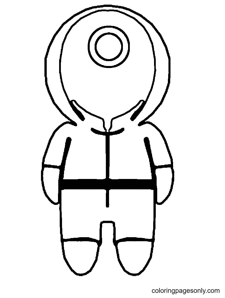 Squid Game to Print Coloring Page