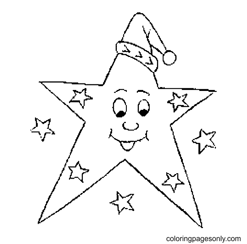 Star Christmas Coloring Page