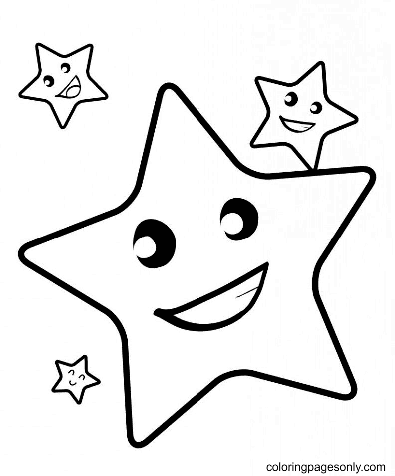 Star Happiness Coloring Page