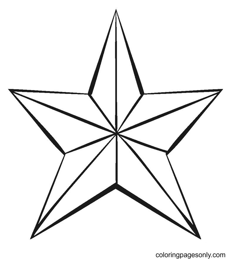 Star Printable Coloring Page