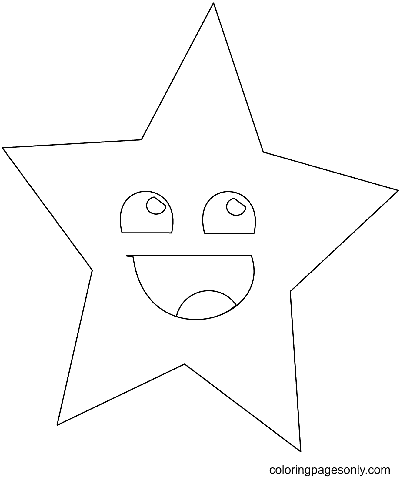 Star Smile Coloring Page