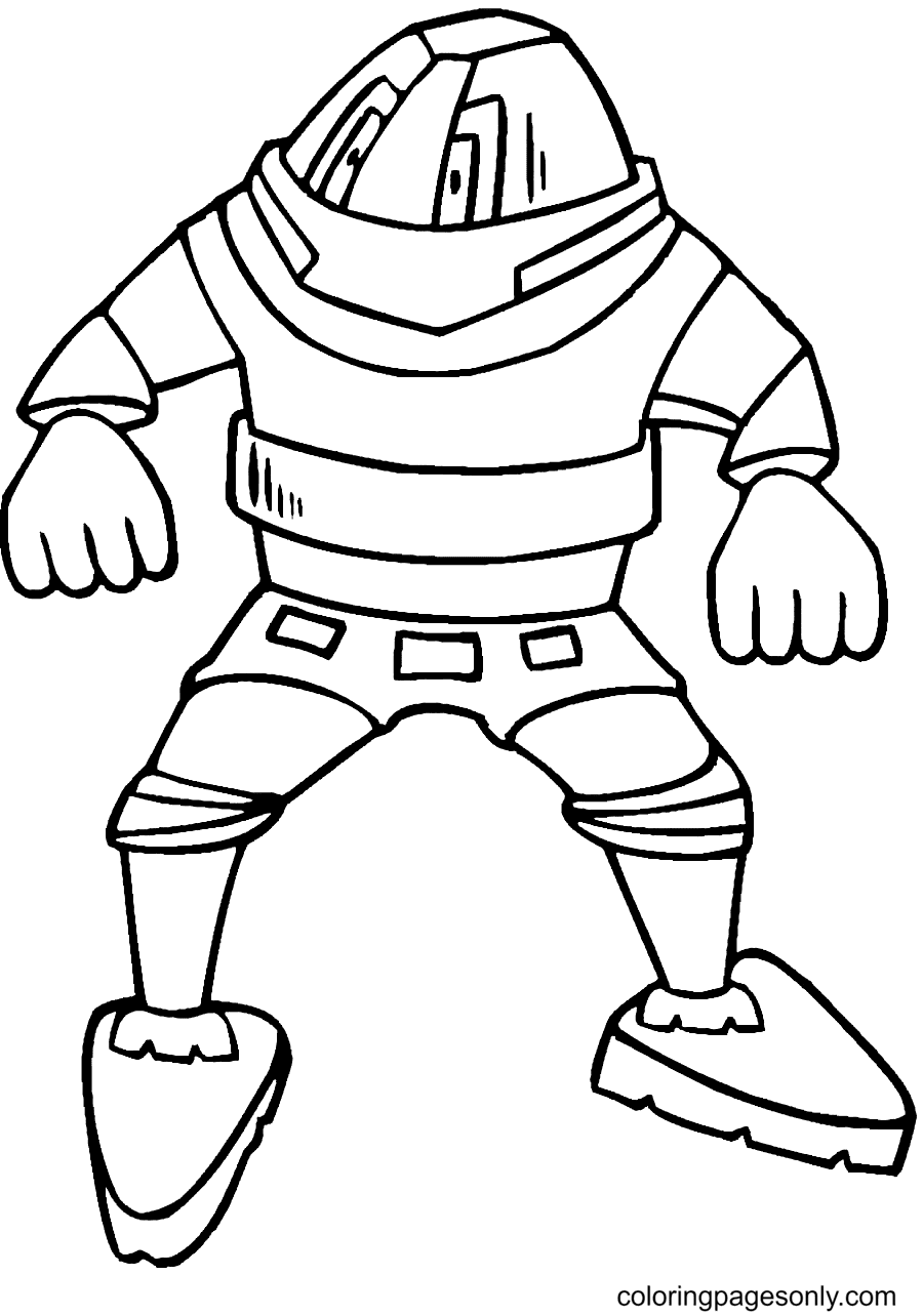 Strong Robot Coloring Page