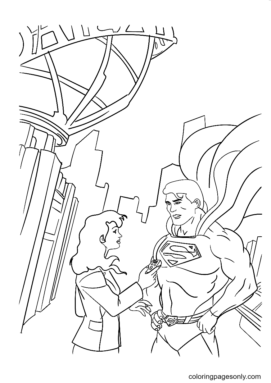 Superman and Lois Lane Coloring Page