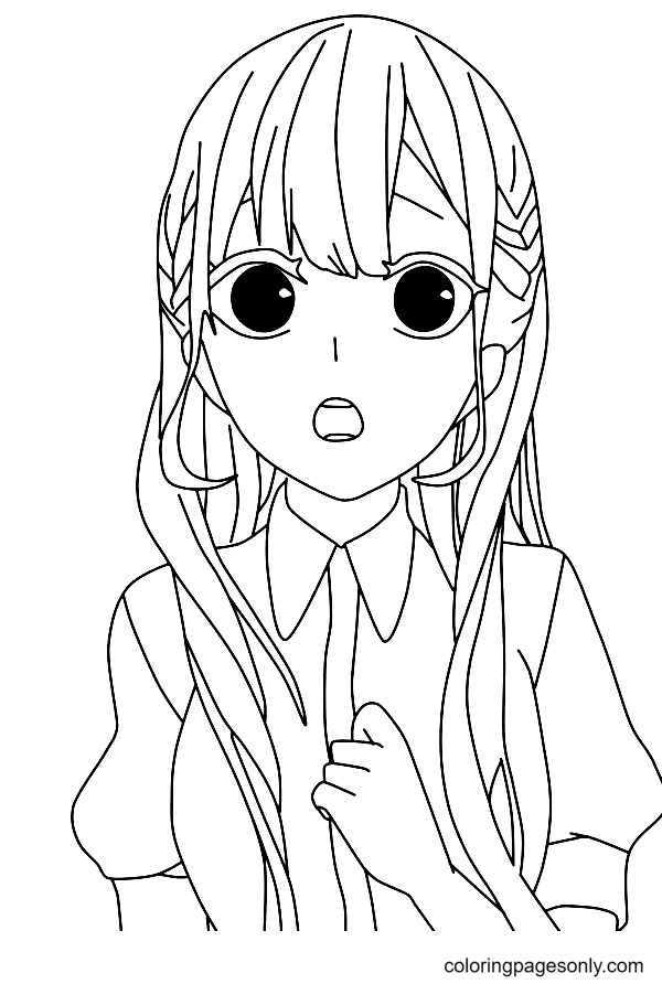 Surprised Girl Coloring Page
