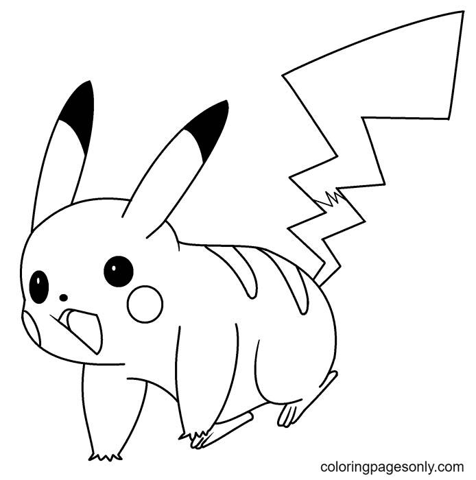 Surprised Pikachu Coloring Page
