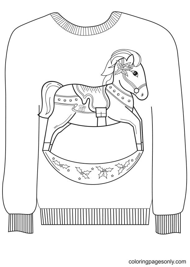 Sweedish Horse Sweater Coloring Page