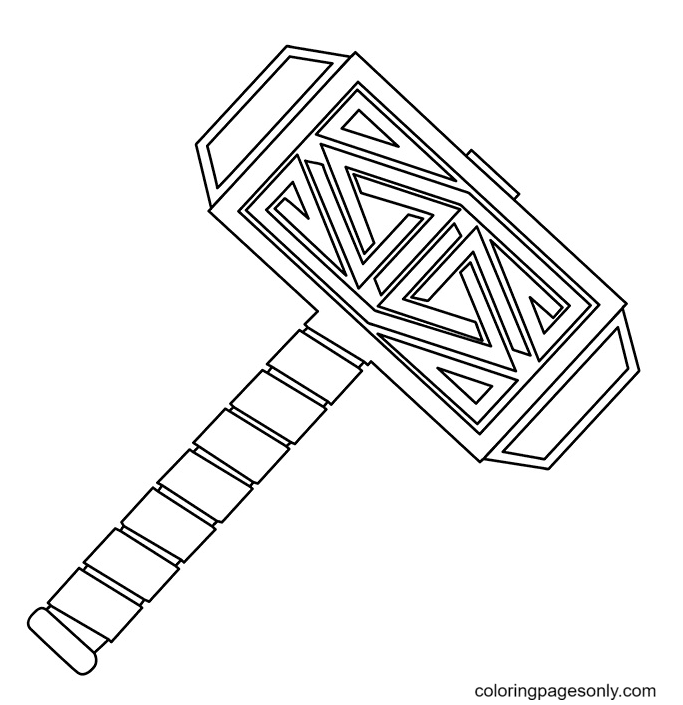 The God Hammer Coloring Page