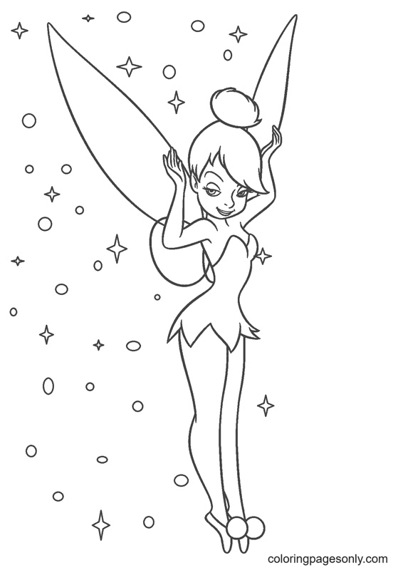 Tinker Bell Disney Coloring Page