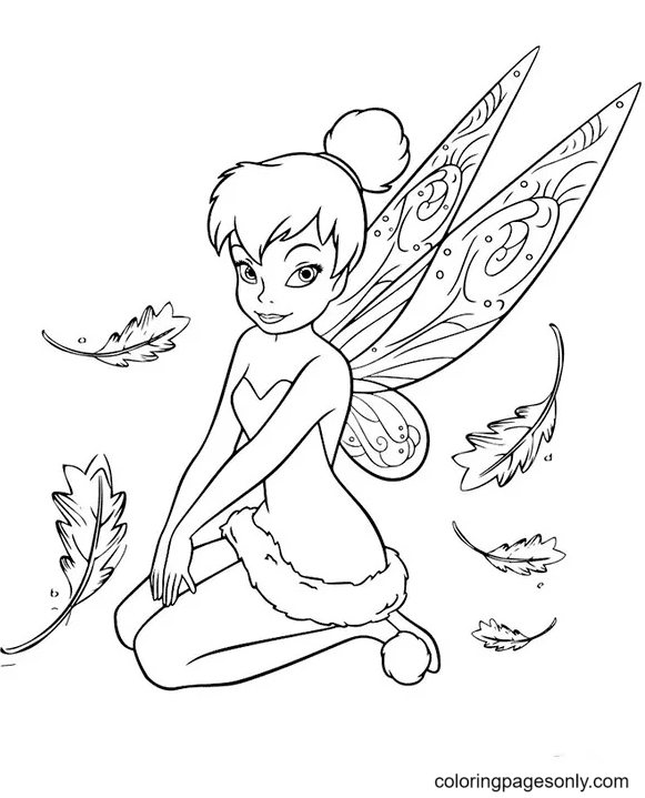 Tinker Bell Fairies Coloring Page