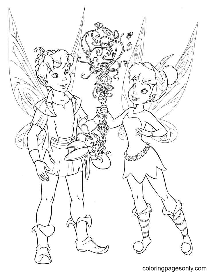Tinker Bell and Terence Coloring Page