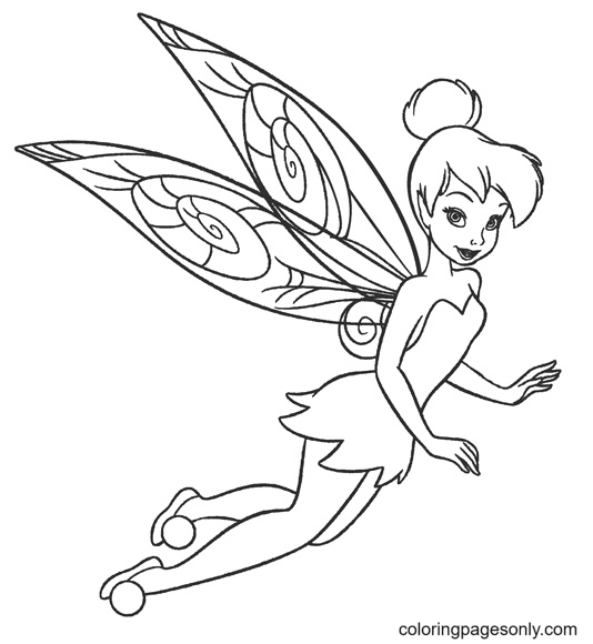 Tinker Bell to Print Coloring Page