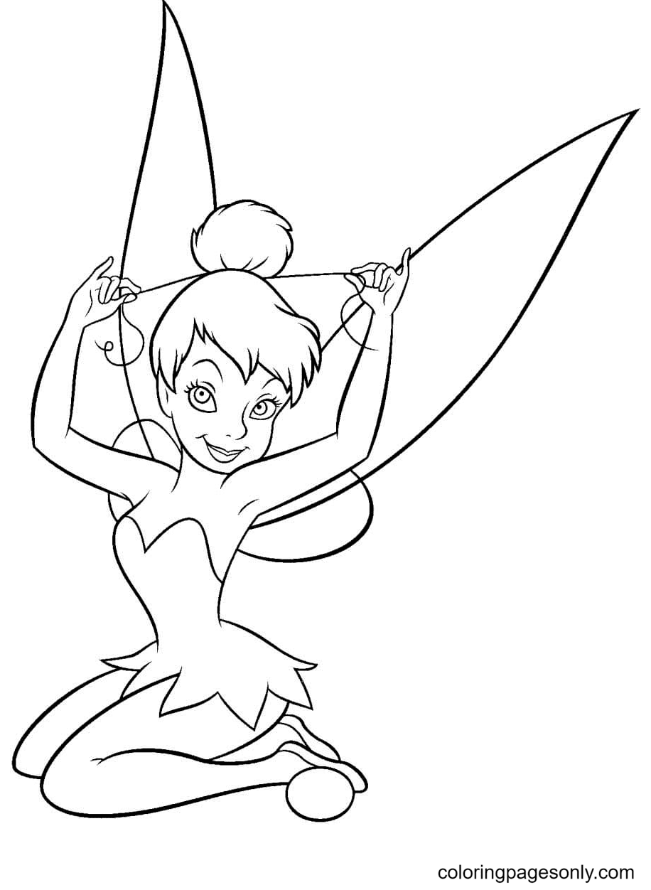 Tinker Bell with one hairdo Coloring Page