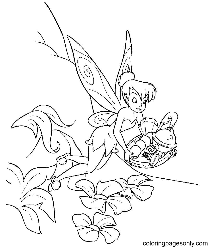 TinkerBell Can Fix Everything Coloring Page