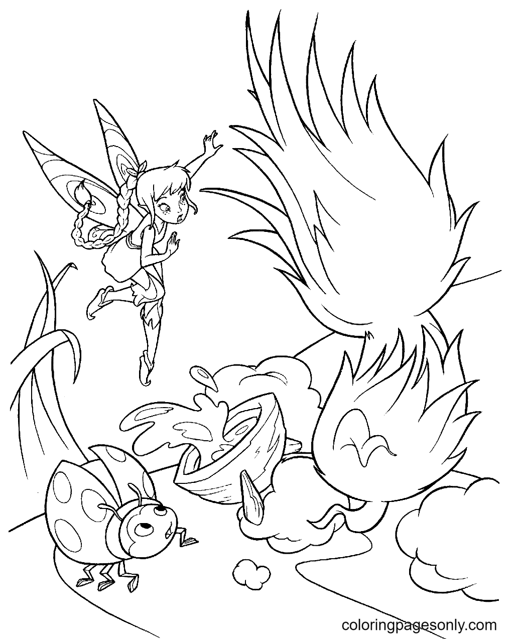 Tinkerbell Printable Coloring Page