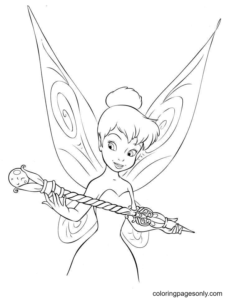 Tinkerbell with Scepter Coloring Page