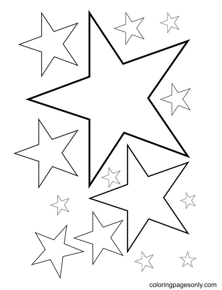 Tracing Star Coloring Page